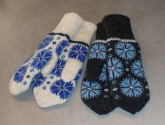 Anucraft: The cornflower pattern on mittens