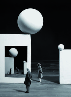 inspiration collector — Gilbert Garcin …is a french photographer from. Set Design Theatre, Stage Design, Photomontage, Dadaism Art, Gilbert Garcin, Goldscheider, Poesia Visual, French Photographers, Scenic Design