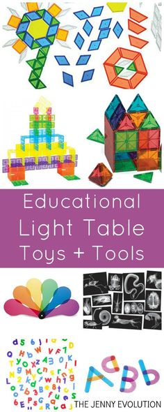 Best Toys and Educational Tools for Light Tables - Perfect for Preschool and Sensory Activities!: Best Toys and Educational Tools for Light Tables - Perfect for Preschool and Sensory Activities!