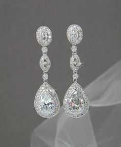 These earrings have been designed by CrystalAvenues exclusively for CrystalAvenues Ive created these earrings with Swarovski Pure Brilliance