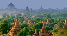 "Bagan Temples - Maynmar (Burma)    I saw these temples in an overhead shot in ""Samsara"" and was almost moved to tears by their beauty."