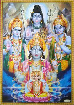 Hindu Cosmos - Lord Vishnu, Shiva, Brahma, Rama, Krishna (via.