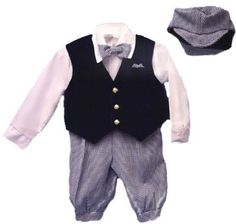 Boys Navy/white Dress Knickers 5-pc Outfit with Navy Velvet Vest | Newsboy Cap, Infants 6-24m, Toddlers 1t-4t, Boys 4-8
