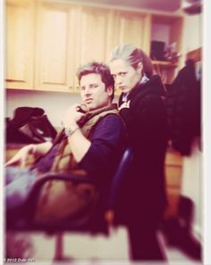 James Roday & Maggie Lawson-- in an interview James described Maggie as sunshine.  So sweet!