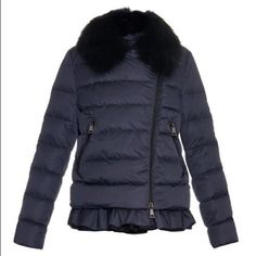 Size 5 moncler jacket black 100 percent polyester