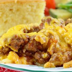 Crock Pot Sloppy Joe Casserole is a super easy casserole to make! Layers of cheesy hash browns, ground beef and sloppy joe filling make it a whole meal!