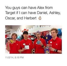 you can have Alex. Please take him. I would much rather have these fine employees ;) P.S. The ones who attempt to sell you their album are the best
