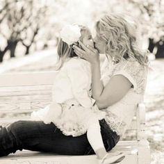 Cute mother daughter pose!
