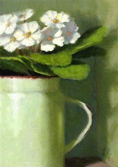 """""""African Violets"""" - Original Fine Art for Sale - © Linda Jacobus"""