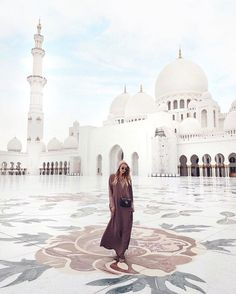 "Leonie Hanne (@ohhcouture) on Instagram: ""Sheikh Zayed Mosque - One of the most beautiful places I've ever been to.  @visitabudhabi…"""