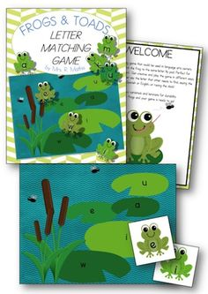 fun letter matching game that is perfect for a literacy center.