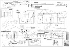 Full Scale Jaguar Plan - Guitar bodies and kits from BYOGuitar Fender Jaguar, Gibson Flying V, Guitar Kits, Guitar Body, Tech Hacks, Construction, Guitar Building, Scale, How To Plan