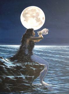 Mermaid and moon