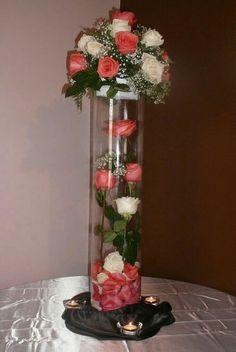 Wedding Table Arrangements Ideas Centerpieces 17 Ideas For 2019 Quinceanera Centerpieces, Flower Centerpieces, Flower Vases, Flower Decorations, Wedding Centerpieces, Wedding Table, Diy Wedding, Wedding Flowers, Wedding Decorations
