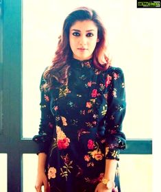 For more gallery images install flico app Nayanthara Hairstyle, Saree Hairstyles, South Indian Actress, Beautiful Indian Actress, Kurta Designs, Blouse Designs, Nayantara Hot, Casual Trendy Outfits, Frock Patterns
