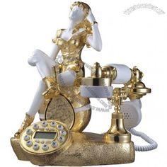 Gold Girl Antique Telephone