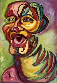 An expressive portrait of a clown Oil on canvas 60 x 40 cm Expressionist Portraits, Composition Painting, Portfolio Images, New Image, Oil On Canvas, This Is Us, Original Paintings, Artist, Artwork
