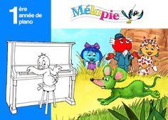 """Mélopie vous propose sa """"Méthode piano 3 ans"""" pour apprendre le solfège, les notes de musique, les rythmes, le piano et même des contes musicaux !"""