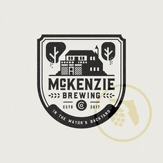 WEBSTA @treyingram03 Working on a modified 1-color option for McKenzie Brewing Co.