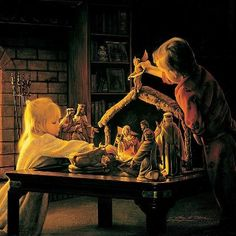 """Angels of Christmas"" by Greg Olsen ~ Nativity of Jesus"