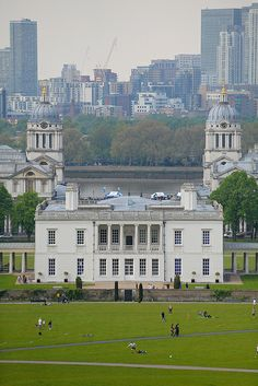 The Queen's House, Greenwich [The Queen's House is a former royal residence built between in Greenwich by Inigo Jones] - by Michael Garnett British Architecture, London Architecture, House Architecture, Leeds, Anne Of Denmark, Villas, Bristol, Liverpool, Greenwich Park