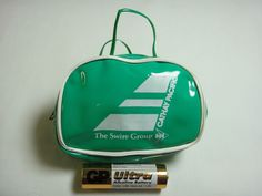 Pre Owned Vintage Rare Green Bag Old Logo Cathay Pacific Airline Airways