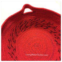 Braided  rope basket