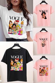 only US $2.15 - 2.99, can you believe it? Graphic T Shirts, Tee Shirts, Modern Exterior House Designs, Male To Female Transition, Funny Princess, Korean Tops, Cool Gadgets To Buy, Sweet Cocktails, Capitol Records