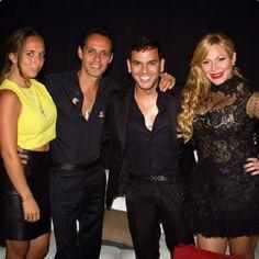 """Marc Anthony """" disfrutan junto a sus parejas """"backstage"""" en el concierto del salsero... Que tal este junte"""