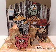 Sandy Diller created a 'Party Animal' card, which is equal parts gorgeous and adorable! Sandy used the farm characters from the Pop it Up Collection by Karen Burniston, Designer. To make the background look realistic she used our Elizabeth Craft Designs Through the Lens cardstock to recreate a wood and metal look for the barn! Find the full post on Sandy's blog here: http://sandydiller.blogspot.com/2016/12/designers-challenge-week-hee-haw.html