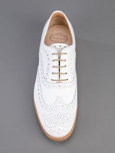 Church's classic white leather brogue.