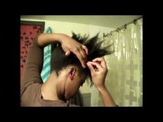 ▶ Natural Hair 4c: Flip and Pin Updo- How I wore my hair today - YouTube