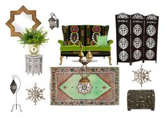 """Moroccan Style"" by thevintagecinderella ❤ liked on Polyvore featuring interior, interiors, interior design, home, home decor, interior decorating, Savoy House, Surya, Home Decorators Collection and Moroccan Prestige"