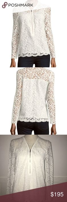 🆕 The Kooples white lace and zipper top size XS NWT The Kooples white lace and zipper top. Size XS. Please view all photos and ask any questions you may have prior to purchasing 💕 ❌No Trades❌                   ⭐️Bundle & Save⭐️  ✅Offers Welcome✅ The Kooples Tops