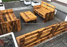 Here you can see the benches; there are no legs of the seats. The style of the benches is like sofa and the style of the table is simple with the four legs.