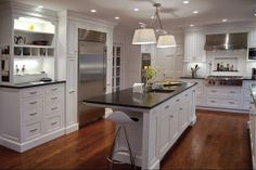 Plain & Fancy fixtures in a renovated kitchen by Louisville Kitchen Works