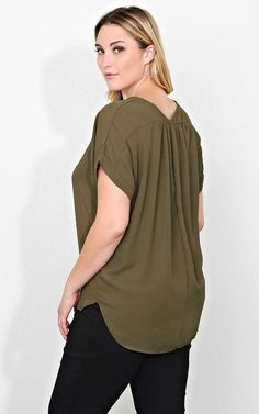 #FashionVault #styles for less #Women #Plus Size - Check this : Plus Size All The Time Woven Top - in Size by Styles For Less for $12 USD