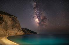 Παραλία Πόρτο Κατσίκι, Λευκάδα (by Κωνσταντίνος Κουτσογιάννης) (Canon 5D Mark IV & Sigma 20mm f1.4 Art) Under The Stars, Canon, Nature, Travel, Naturaleza, Viajes, Cannon, Destinations, Traveling