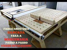 BANCADA PARA MARCENARIA COM A SERRA DE BANCADA SKIL 3610 VIDEO 1 - YouTube