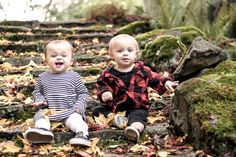2018 fall family pictures with photoshoot and family ideas as well as a black and white stripe and red plaid theme Fall Baby Pictures, Toddler Pictures, Fall Photos, Twin Toddler Photography, Twin Toddlers, Toddler Twins, Pumpkin Patch Pictures, Twin First Birthday, Family Picture Outfits
