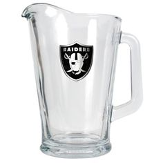 Oakland Raiders 60oz Glass Pitcher - Primary Logo