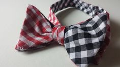 Our Red and Black Gingham Bow Tie is now available in a larger checked print!