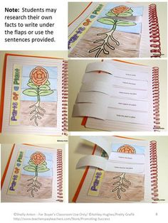 FREE Parts of a Plant Interactive Notebook Distance Learning Science Activity Parts Of A Flower, Parts Of A Plant, Plant Crafts, Accordion Book, Reading Comprehension Activities, Authors Purpose, Interactive Notebooks, Free Plants, Booklet