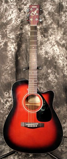 Yamaha FGX-412C Violin Sunburst Acoustic Electric Guitar