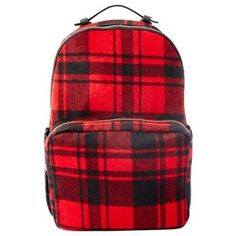 "Fit for the daily commute and beyond, our new backpack crafted in an effortlessly cool, buffalo plaid print is designed to hold all of your daily essentials and more. It features a roomy interior and a front zippered pocket with plenty of slip pockets for instant access to necessities on-the-go. Shell: 38% polyester, 29% wool, 21% acrylic, 6% rayon, 4% nylon, 2% cotton. Lining: 100% polyester. 11.5"" x 15.75"" x 5"". Available only at Indigo."