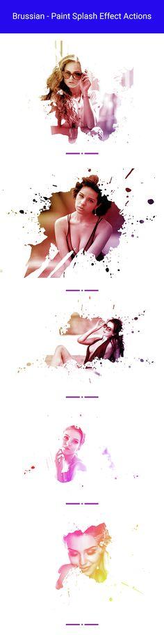 Brussian - Paint Splash Effect Actions                                                                                                                                                                   (Cool Easy Art)