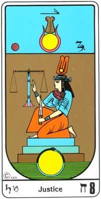 8. La Justicia (Justicia) en el Tarot Egipcio Kier