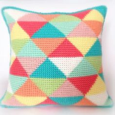 Tunisian Triangles PDF Tunisian Crochet Pattern by PoppyandBliss