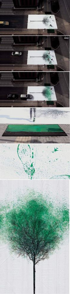 Pedestrian Crossing In China Turns Footsteps Into Leaves