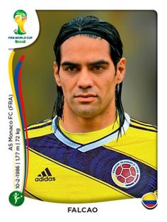 Radamel Falcao of Colombia in Football Stickers, Football Cards, World Cup 2014, Fifa World Cup, Lionel Messi, America Album, King Sport, World Cup Final, World Football